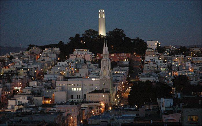 Telegraph Hill in San Francisco county California