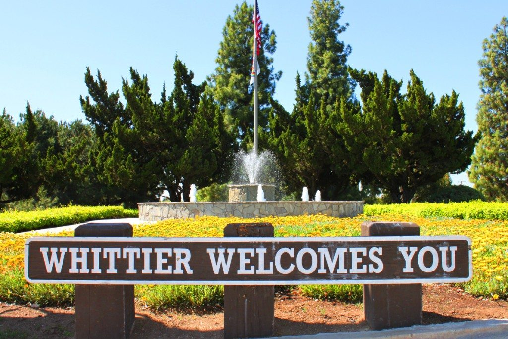 Whittier in Los Angeles county California